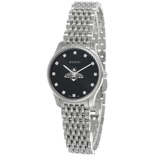 グッチ/腕時計/レディース/G-Timeless|G-タイムレス/YA1265020/ブラック×シルバーステンレスベルト