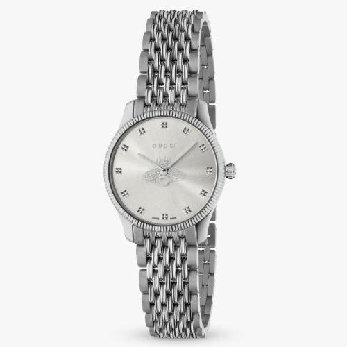グッチ/腕時計/レディース/G-Timeless|G-タイムレス/YA1265019/シルバー×シルバーステンレスベルト