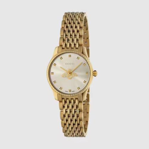 グッチ/腕時計/レディース/G-Timeless|G-タイムレス/YA1265021/シルバー×ゴールドステンレスベルト
