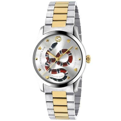 グッチ/腕時計/ユニセックス/G-Timeless|G-タイムレス/YA1264075/シルバー×ツートンカラーステンレスベルト