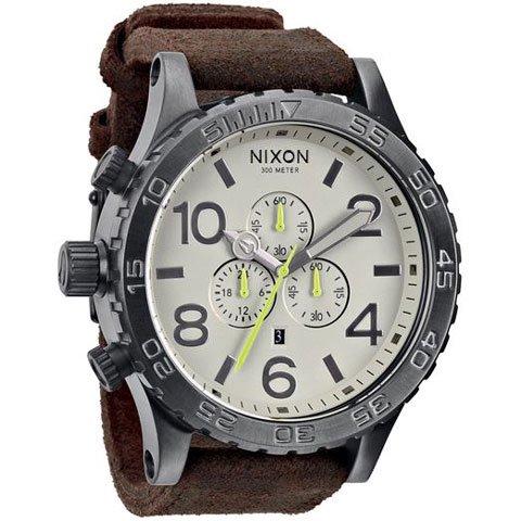 ニクソン 腕時計 51-30 A124-1388 ガンメタル×ブラウン