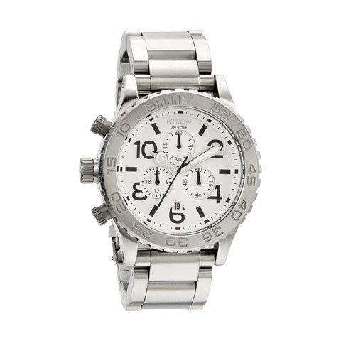 ニクソン 腕時計 42-20 クロノグラフ A037100 ホワイト×シルバー