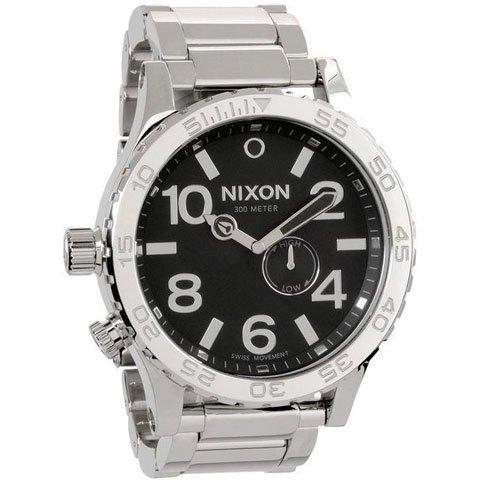 ニクソン 腕時計  51-30 A057-487 タイドグラフ ブラック×シルバー