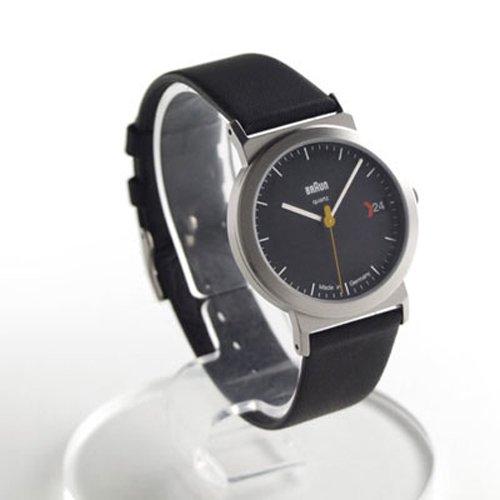 ブラウン 腕時計 AW22 ブラック×ブラックレザーベルト