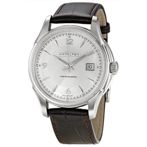 ハミルトン 腕時計 ジャズマスター  ビューマチック H32515555 シルバー×ブラウンレザーベルト