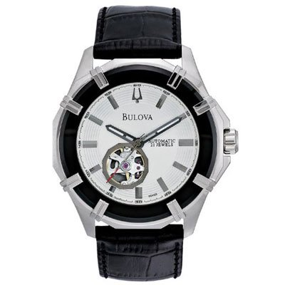 Bulova(ブローバ) 時計 メンズ 96A123 オートマティック ブラックレザーベルト