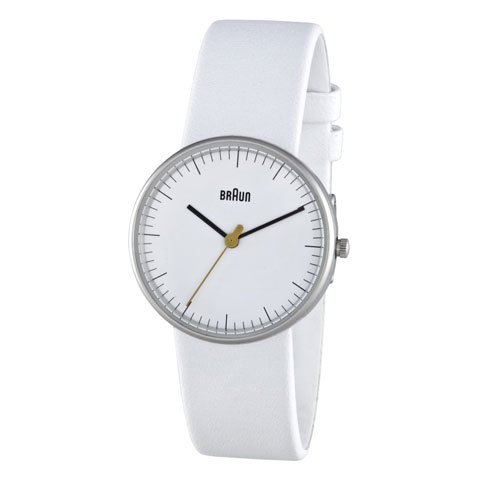 ブラウン|Braun 時計/BN0021WHWHL/ホワイト×ホワイトレザーベルト