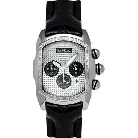 ジョーロデオ 腕時計 キング JKI28 シルバー×ブラックレザーベルト