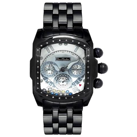 ジョーロデオ 腕時計 キング JKI25WYB シルバー×ブラックステンレススチールベルト