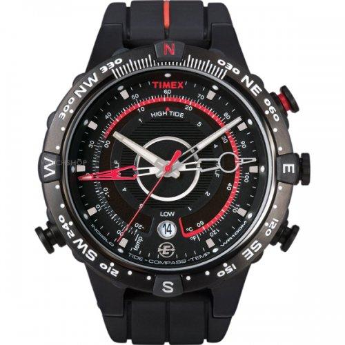 タイメックス 腕時計 Eコンパス T45581 ブラック×レッド
