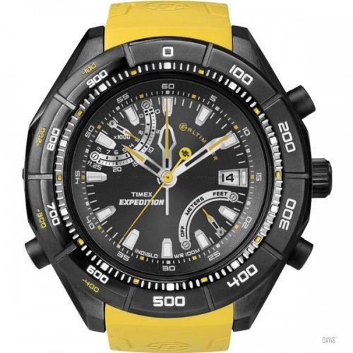 タイメックス 腕時計 エクスペディション T49796 E-アルティメーター ブラック×イエローラバーベルト