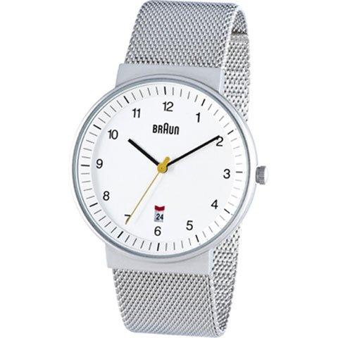 ブラウン|Braun 時計/BN0032WHSLMHG/ホワイト×シルバーメッシュベルト