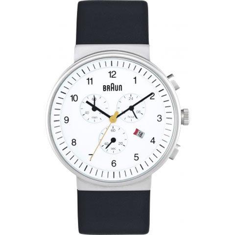ブラウン|Braun 時計/レディース/BN0035WHBKG/クロノグラフ/ホワイト×ブラックレザーベルト