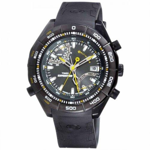タイメックス 腕時計 エクスペディション T49795 E-アルティメーター ブラックラバーベルト