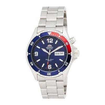 オリエント 腕時計 CEM65006D オートマチック ペプシベゼル×ステンレススチールベルト