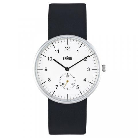 ブラウン|Braun 時計/BN0024WHBKG/ホワイト×ブラックレザーベルト