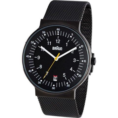 ブラウン|Braun 時計/BN0082BKBKMHG/ブラック×ブラックメッシュベルト