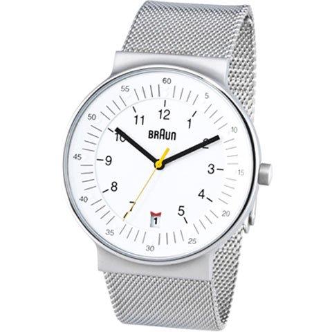 ブラウン|Braun 時計/BN0082WHSLMHG/ホワイト×シルバーメッシュベルト
