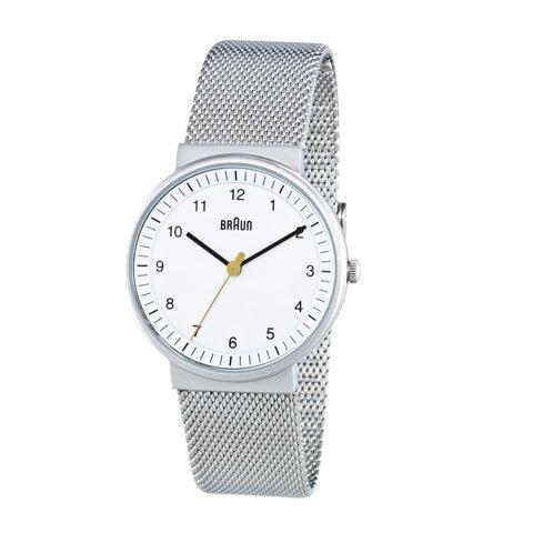 ブラウン|Braun 時計/BN0031WHSLMHL/ホワイト×メッシュベルト