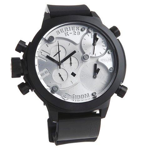 ウェルダー 腕時計 K29シリーズ 8000 シルバー×ブラックラバーベルト