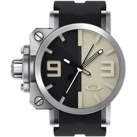 オークリー 腕時計 ギアボックス 10-063 ブラック×タン×ブラックラバーベルト