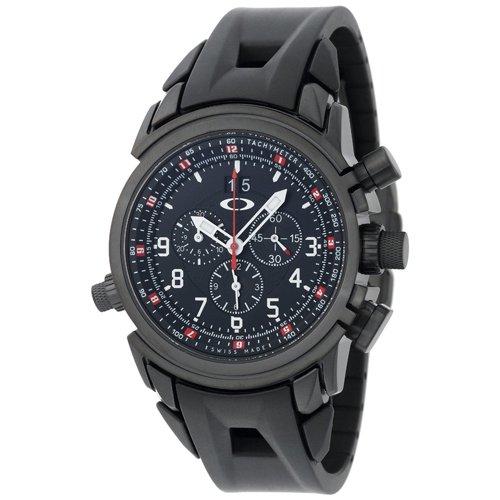オークリー 腕時計 トゥエルブゲイジ 10-061 ブラック×ブラックラバーベルト