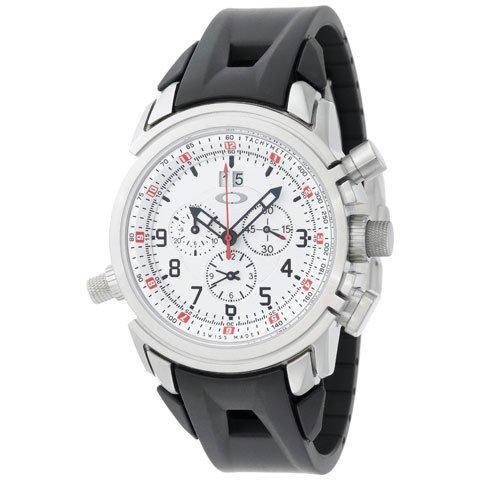 オークリー 腕時計 トゥエルブゲイジ 10-059 ホワイト×ブラックラバーベルト