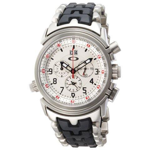 オークリー 腕時計 トゥエルブゲイジ 10-058 ホワイト×ステンレススチール×カーボンファイバー