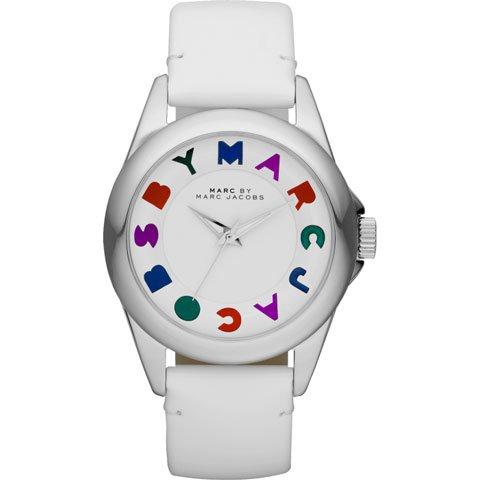 マークバイマークジェイコブス 腕時計 レディース バブル MBM1190 マルチカラー×ホワイトレザーベルト