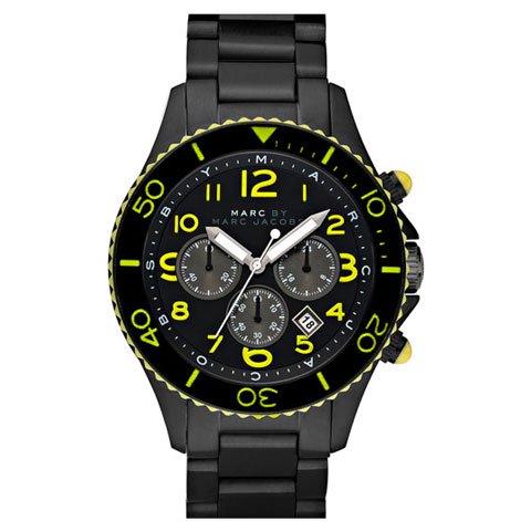 マークバイマークジェイコブス 腕時計 メンズ ロック MBM5026 オールブラック×イエロー
