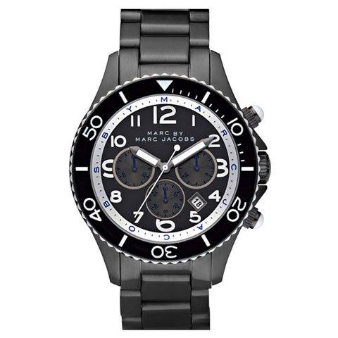 マークバイマークジェイコブス 腕時計 メンズ ロック MBM5025 ブラック×ガンメタル