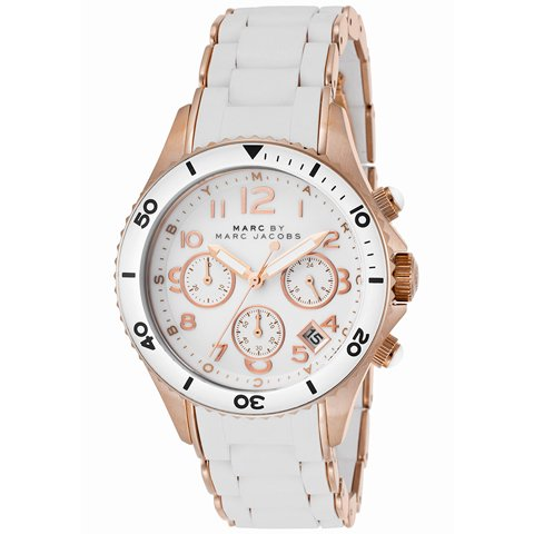 マークバイマークジェイコブス 腕時計 ユニセックス ロック MBM2547 ホワイト×ピンクゴールド