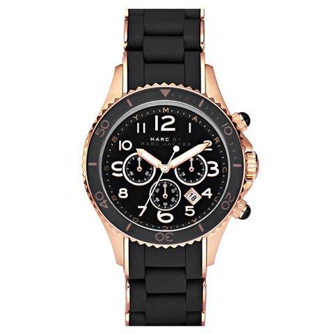 マークバイマークジェイコブス 腕時計 ユニセックス ロック MBM2552 ブラック×イエローゴールド