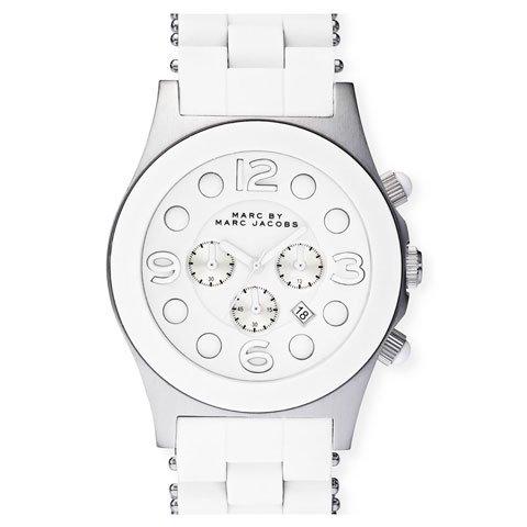 マークバイマークジェイコブス 腕時計 メンズ ペリー クロノ MBM2565 ホワイト