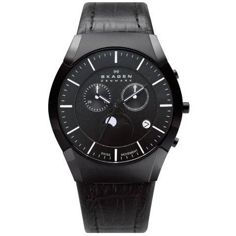 スカーゲン 腕時計 ブラックレーベル 901XLBLB ムーンフェイズ クロノグラフ