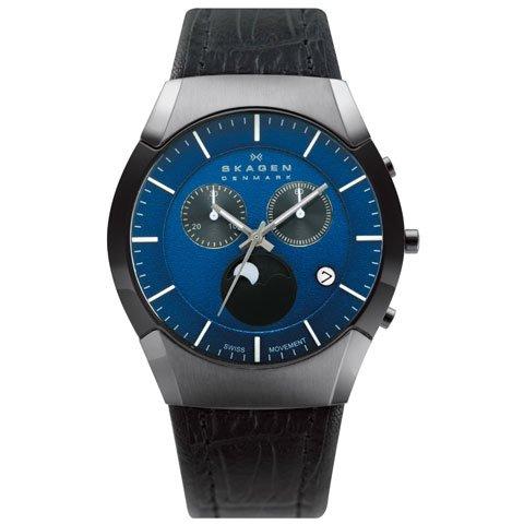 スカーゲン 腕時計 ブラックレーベル 901XLMLN ムーンフェイズ クロノグラフ
