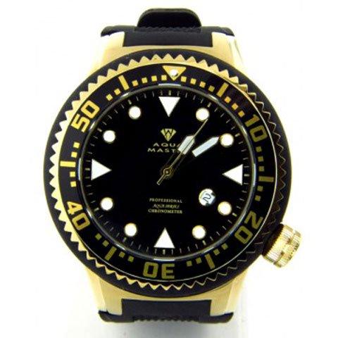 アクアマスター 腕時計 W313 クロノメーター ブラック×ゴールド