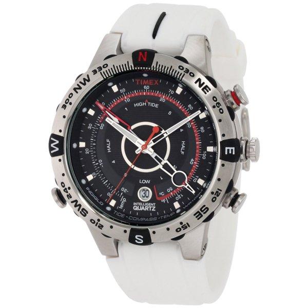 タイメックス 腕時計 T49861 エクスペディション E-タイド Eコンパス ホワイト×ブラック