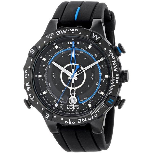 タイメックス 腕時計 T49859 エクスペディション E-タイド Eコンパス ブルー×ブラック