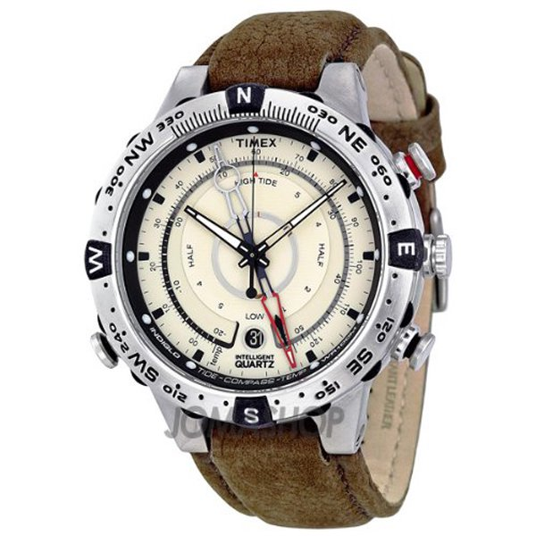 タイメックス 腕時計 T2N721 エクスペディション E-タイド Eコンパス ブラウンレザー