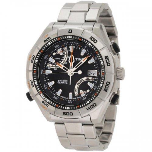 タイメックス 腕時計 T49791 エクスペディション E-アルティメーター ブラック×ステンレススチールベルト