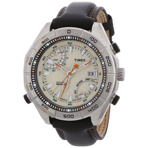 タイメックス 腕時計 T49792 エクスペディション E-アルティメーター ブランレザーストラップ
