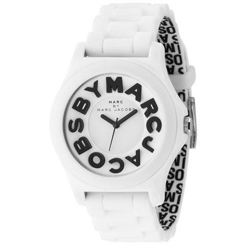 マークバイマークジェイコブス 腕時計 レディース スローン MBM4005 ブラック×ホワイトラバー