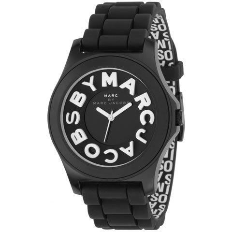 マークバイマークジェイコブス 腕時計 レディース スローン MBM4006 ホワイト×ブラックラバー