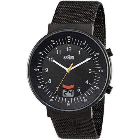 ブラウン Braun 時計/BN0087BKBKMHG/ブラック×ブラックメッシュベルト