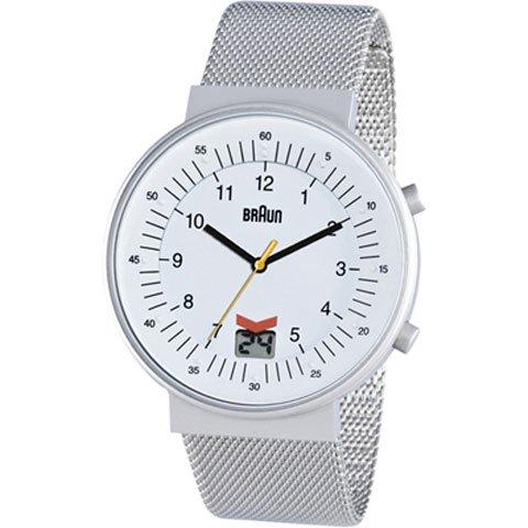 ブラウン|Braun 時計/BN0087WHSLMHG/ホワイト×シルバーメッシュベルト