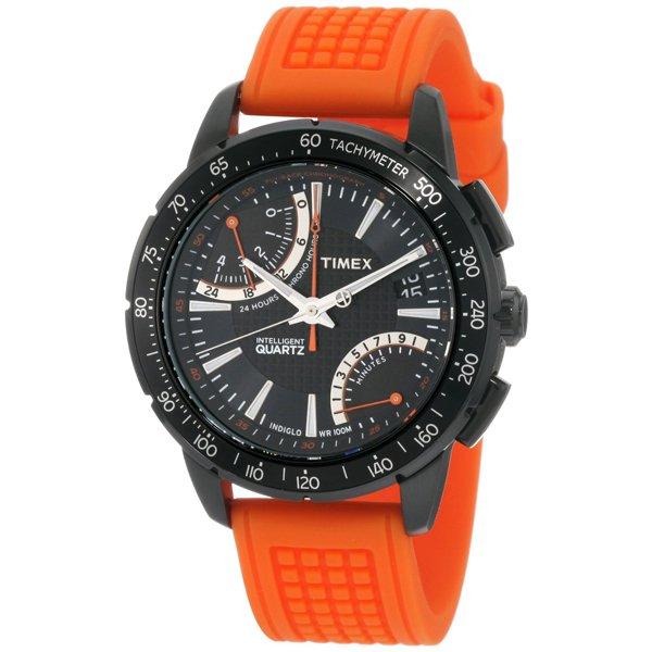 タイメックス 腕時計 インテリジェントクオーツ フライバック クロノグラフ T2N707 オレンジラバーベルト