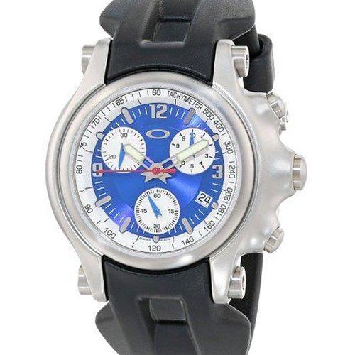 オークリー 腕時計 ホールショット クロノグラフ 10-218 ブルー×ホワイト×ブラックラバー
