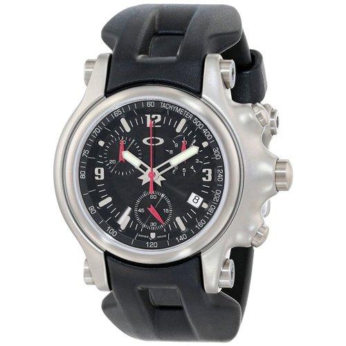オークリー 腕時計 ホールショット クロノグラフ 10-215 ブラック×ブラックラバー