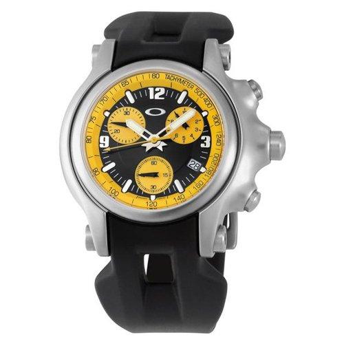 オークリー 腕時計 ホールショット クロノグラフ 10-219 イエロー×ブラックラバーベルト